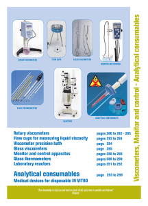 Viscometers, Monitor and control - Analytical