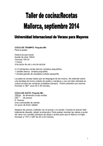 recetas_ es - IX International Summer Senior University