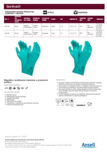 Caja Azul Descripci/ón del producto Guantes de butilo sin polvo de l/átex m 100