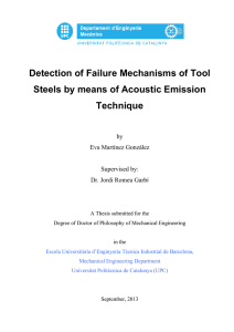 Detection of Failure Mechanisms of Tool Steels by means of