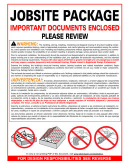 important documents enclosed please review