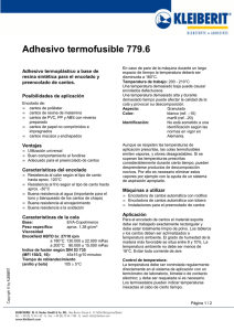 Adhesivo termofusible 779.6
