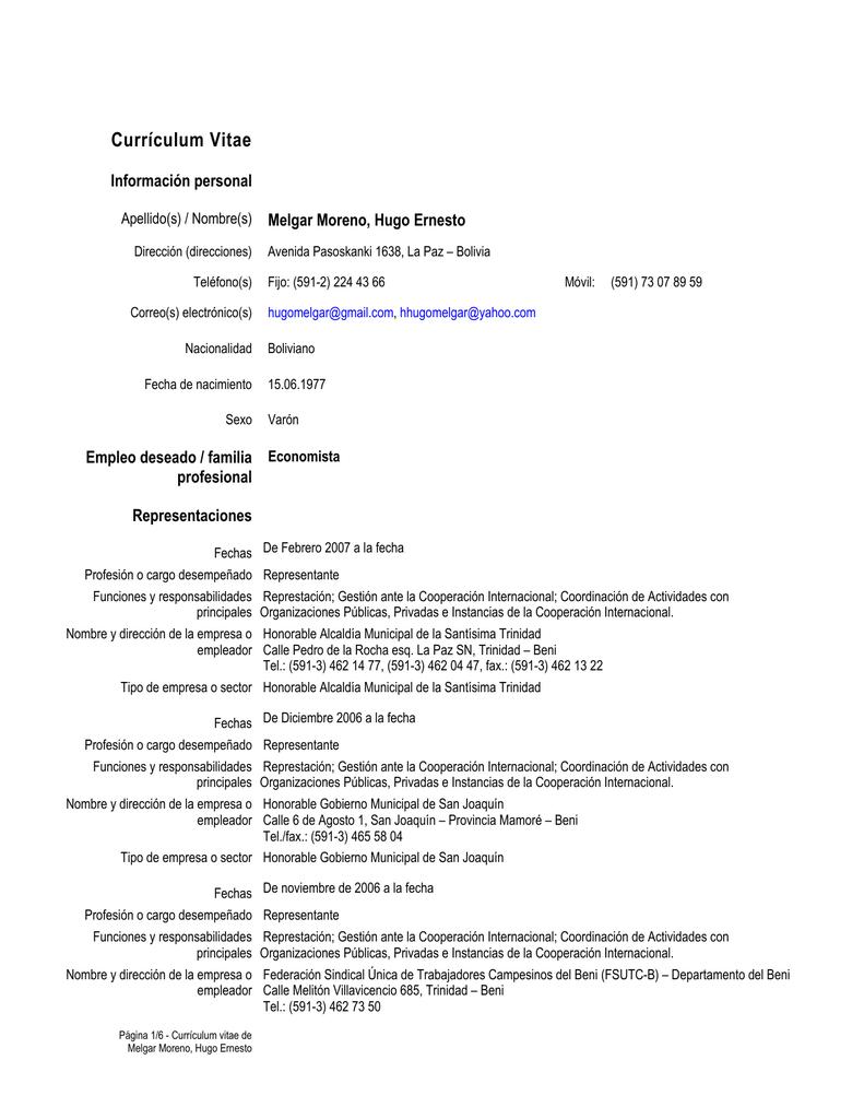 Currículum Vitae - Sinapsis Consultores