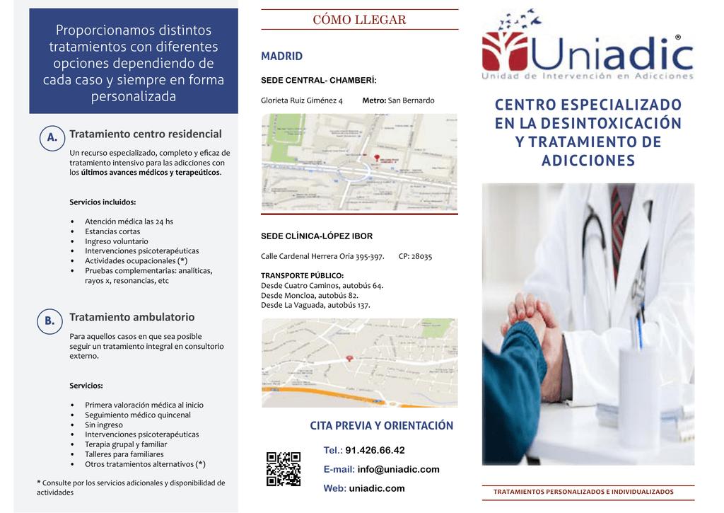 centro especializado en la desintoxicación y tratamiento