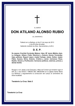 DON ATILANO ALONSO RUBIO