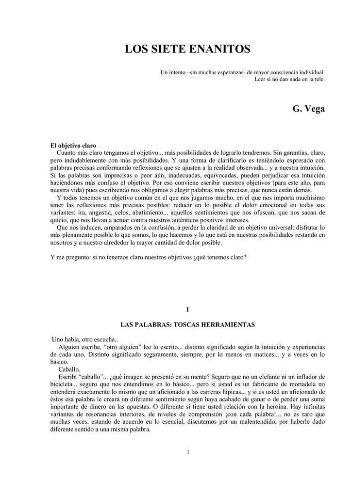 LOS SIETE ENANITOS - gvega