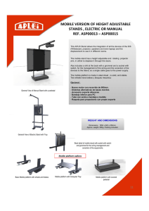 mobile version of height adjustable stands , electric or