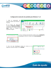 Configuración resolución de pantalla para Windows