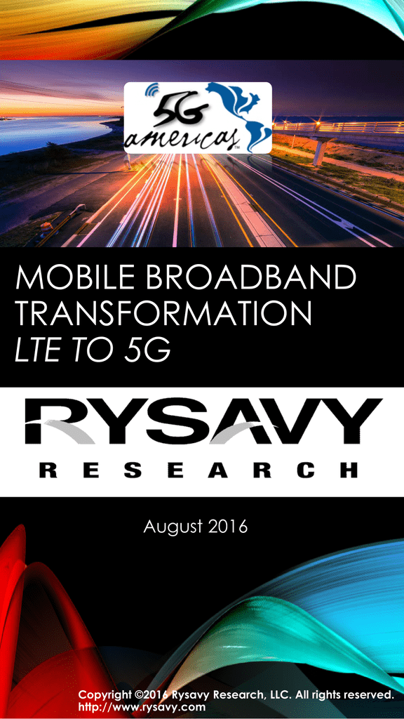 mobile broadband transformation lte to 5g