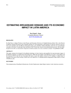 estimating broadband demand and its economic impact in latin