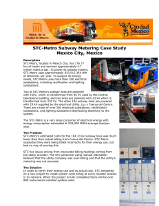 STC-Metro Subway Metering Case Study Mexico City, Mexico
