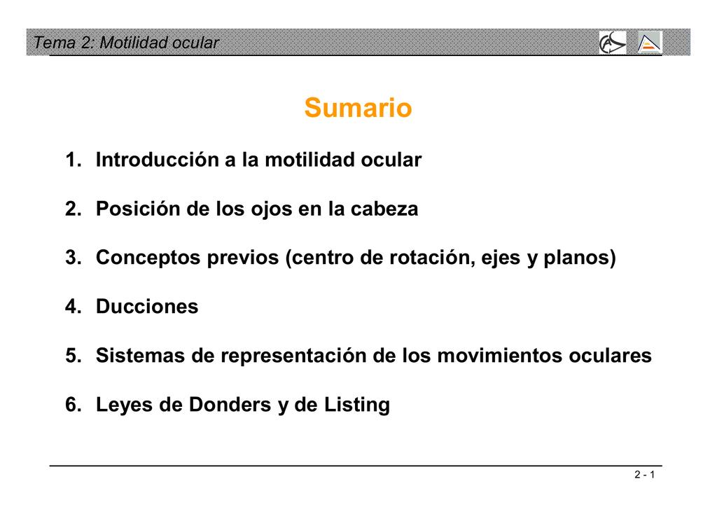 Tema 2: Motilidad ocular