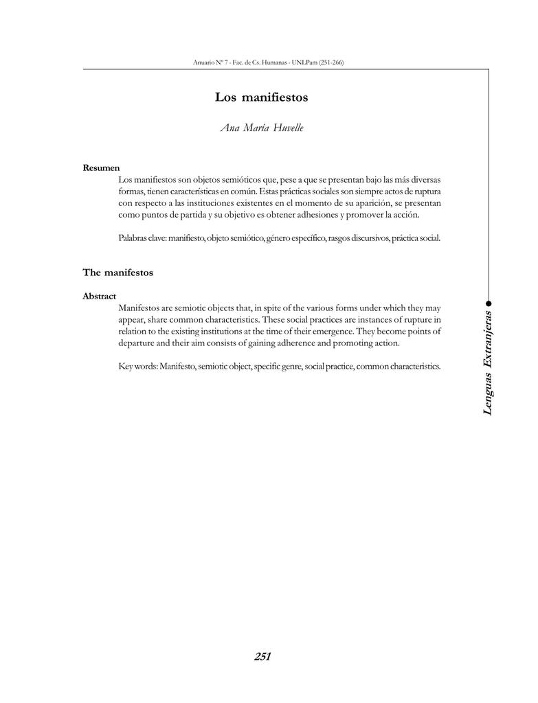 Los Manifiestos