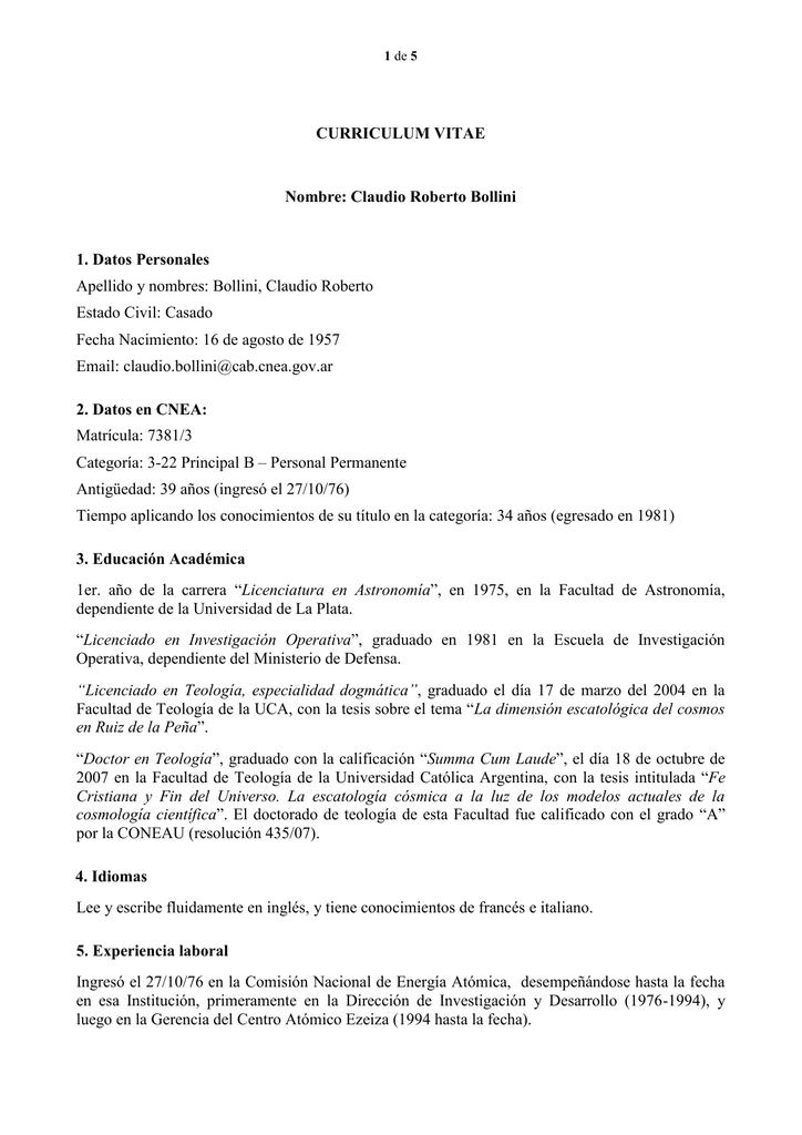Atractivo Reanudar Categorías De Experiencia Composición - Colección ...