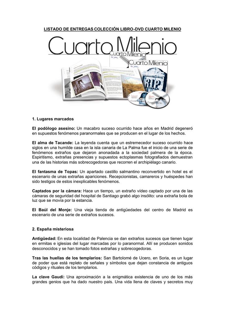 LISTADO DE ENTREGAS COLECCIÓN LIBRO