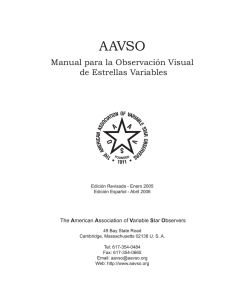 Manual para la Observación Visual de Estrellas Variables