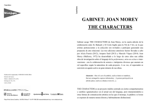 GABINET: JOAN MOREY THE CHARACTERS