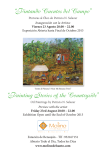 """Pintando Cuentos del Campo"" ""Painting Stories of the Countryside"""