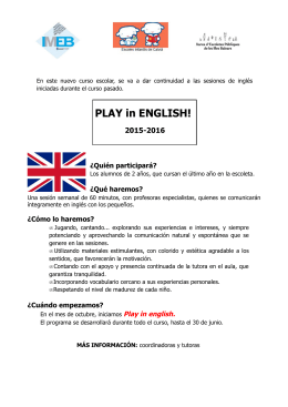 PLAY in ENGLISH!