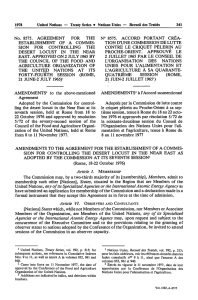 No. 8575. AGREEMENT FOR THE ESTABLISHMENT OF A