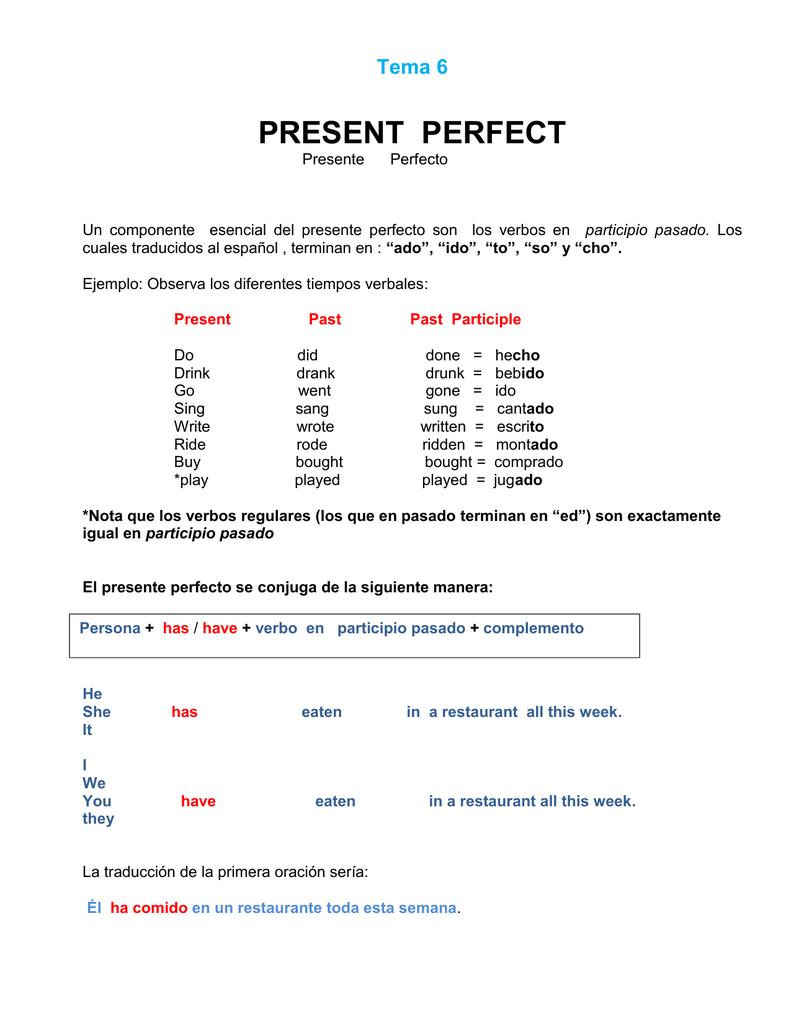 Conjugar el verbo meet en pasado simple