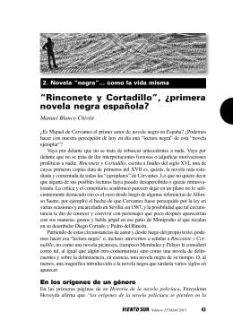 an analysis of rinconete and cortadillo Cervantes' rinconete y cortadillo and the imposition of form: part of the story edward h friedman rocky mountain review of language and literature, volume 34, number.
