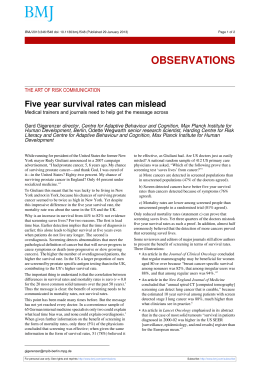 Five year survival rates can mislead