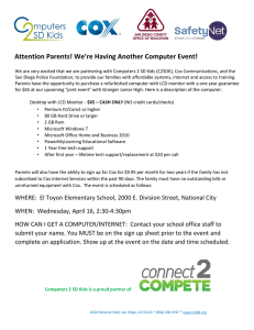Attention Parents! We`re Having Another Computer Event!