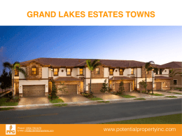 PRESENTACION GRAND LAKES ESTATES TOWNS