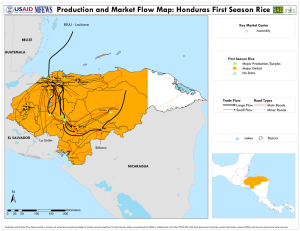 Production and Market Flow Map: Honduras First Season Rice
