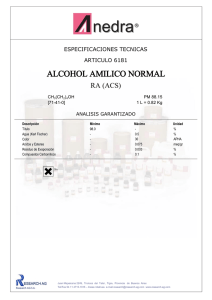 alcohol amilico normal