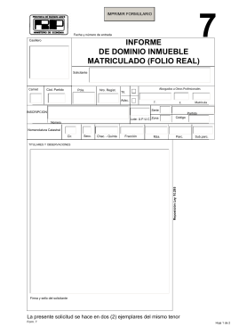 INFORME DE DOMINIO INMUEBLE MATRICULADO (FOLIO REAL)