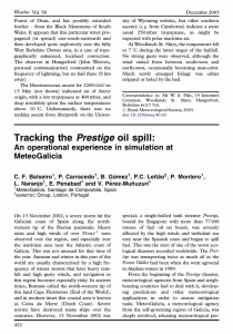 Tracking the Prestige oil spill: An operational