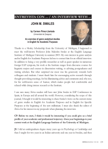 entrevista con / an interview with john m. swales