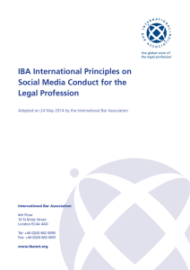 IBA International Principles on Social Media Conduct for the Legal