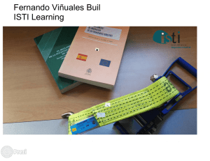 Fernando Viñuales Buil ISTI Learning