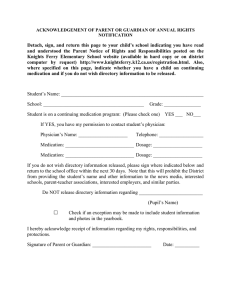 Detach, sign, and return this page to your child`s school indicating