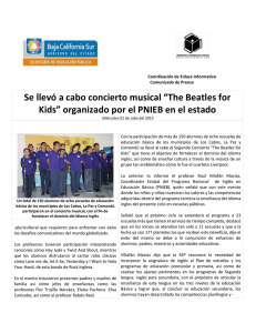 "Se llevó a cabo concierto musical ""The Beatles for Kids"