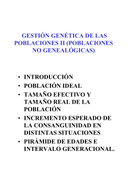 poblaciones no genealógicas