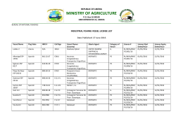 ministry of agriculture - BUREAU OF NATIONAL FISHERIES