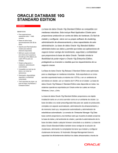 ORACLE DATABASE 10G STANDARD EDITION
