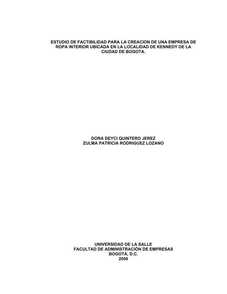estudio de factibilidad para la creacion de una empresa de ropa 43b3911272f8