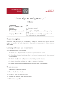 Linear algebra and geometry II