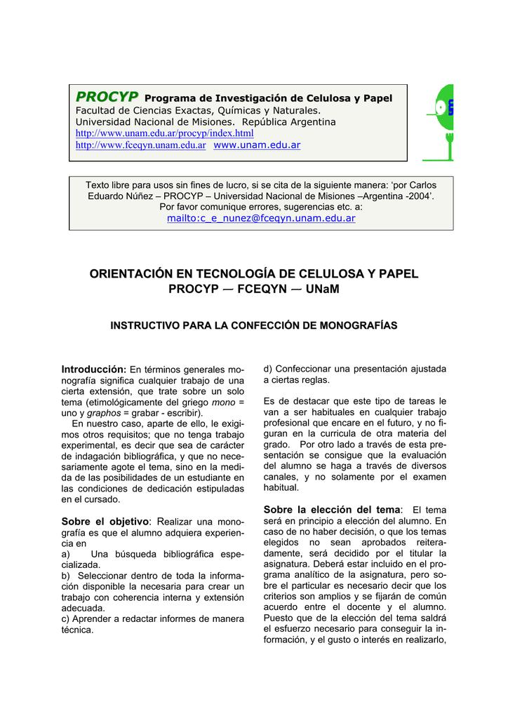 Orientación En Tecnología De Celulosa Y Papel