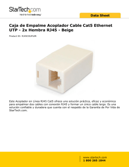 Caja de Empalme Acoplador Cable Cat5 Ethernet UTP