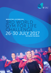 3rd world gym for life challenge 26-30 july 2017