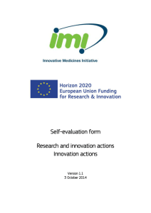 IMI2 RIA/IA Evaluation form