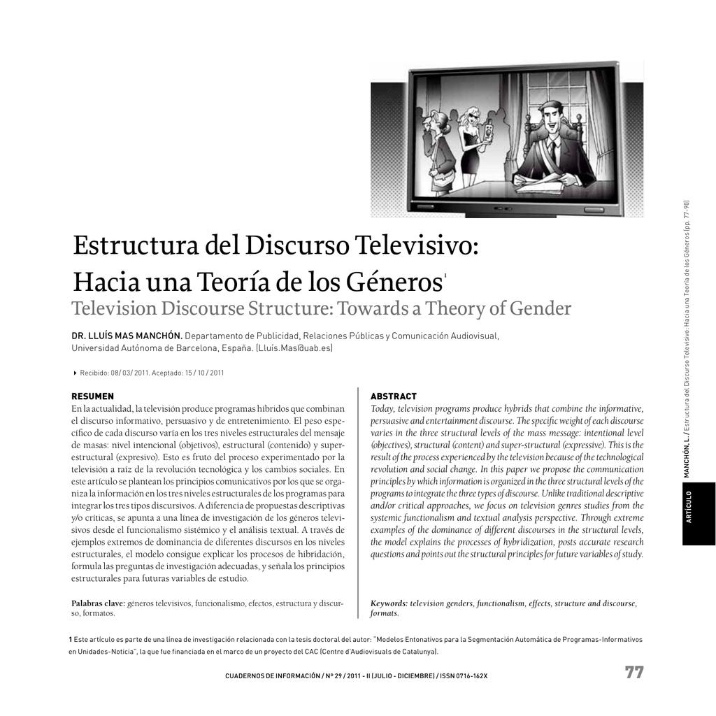 Estructura Del Discurso Televisivo