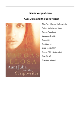 a character analysis of the novel aunt julia and the scriptwriter