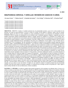 Incompetencia cervical gpc rapida
